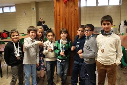 Els més contents i amb cara d'esgotats... de dreta a esquerra són: Iván, Yerai, Malena, Andreu, Carles, Víctor, Joan i Ausiàs.